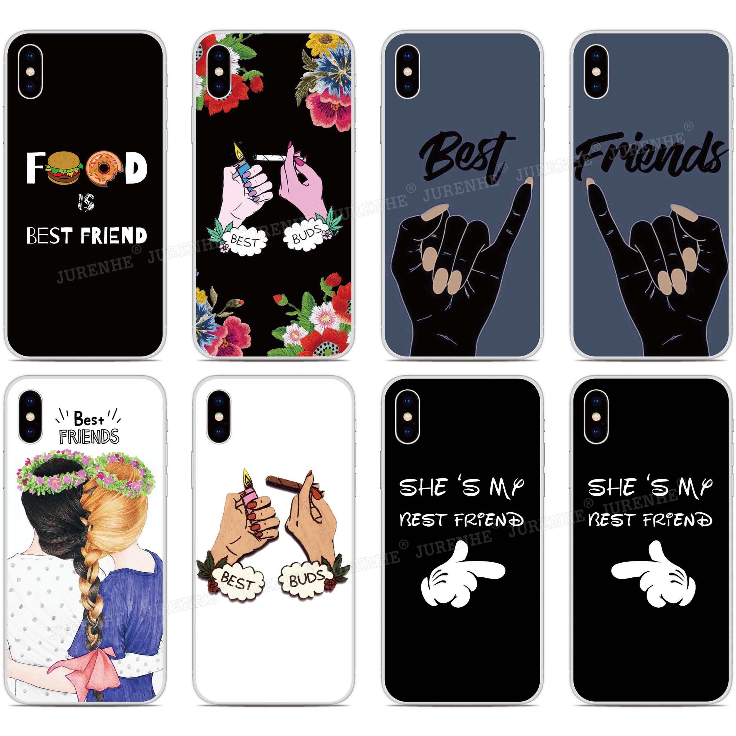 Bff Best Buds Friends Phone Case For OPPO Find X2 Pro A9 A8 A5 A31 2020 A91 AX5S Realme 5 6 X50 Reno A 3 Pro Soft TPU Back Cover image