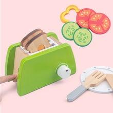 Fabricante de pão máquina de café liquidificador kit cozimento jogo mixer madeira fingir jogar define skitchen função brinquedos crianças imulação torradeiras