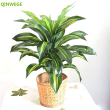 Home-Decoration Artificial-Plants Wood-Tree Outdoor Fake Foliage Wedding-Party Green