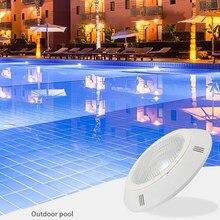Luz de piscina LED sumergible IP68, lámpara montada en la pared, CA DC12V, luz subacuática impermeable, cambio RGB con control remoto