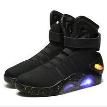 Spring Adult Basketball Shoes USB Charging LED