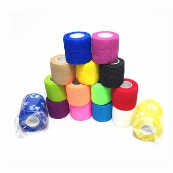 10 rolls 5cmx4 5m pbt elastic bandage gauze roll home family first aid wound sports nursing medical emergency care bandage 2.5cm*5M Self-Adhesive Elastic Bandage First Aid Medical Health Care Treatment Gauze Tape Emergency Muscle Tape First Aid Tool