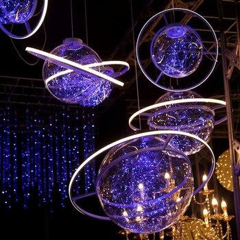 Wedding Decoration Fantasy Starry Props Space Ball Hanging Ornament Wedding Arrangement Party Bar Decorations Chandelier Balls фото