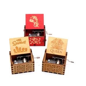 Handmade Wood Carving Music Box Royal Seat Game Theme Wood Carving Simpson Music Box Birthday Gift(China)