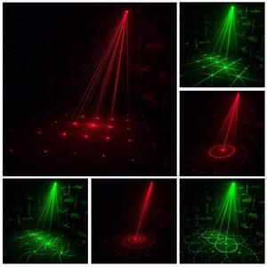 Image 4 - בקרת קול מוסיקה קצב פלאש אור DJ דיסקו שלב אור LED לייזר מקרן שלב מסיבת אורות שלב אפקט תאורה
