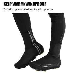 Image 4 - ROCKBROS cubierta de calzado para bicicleta, zapatos chanclos para ciclismo de montaña, resistentes al viento, para invierno