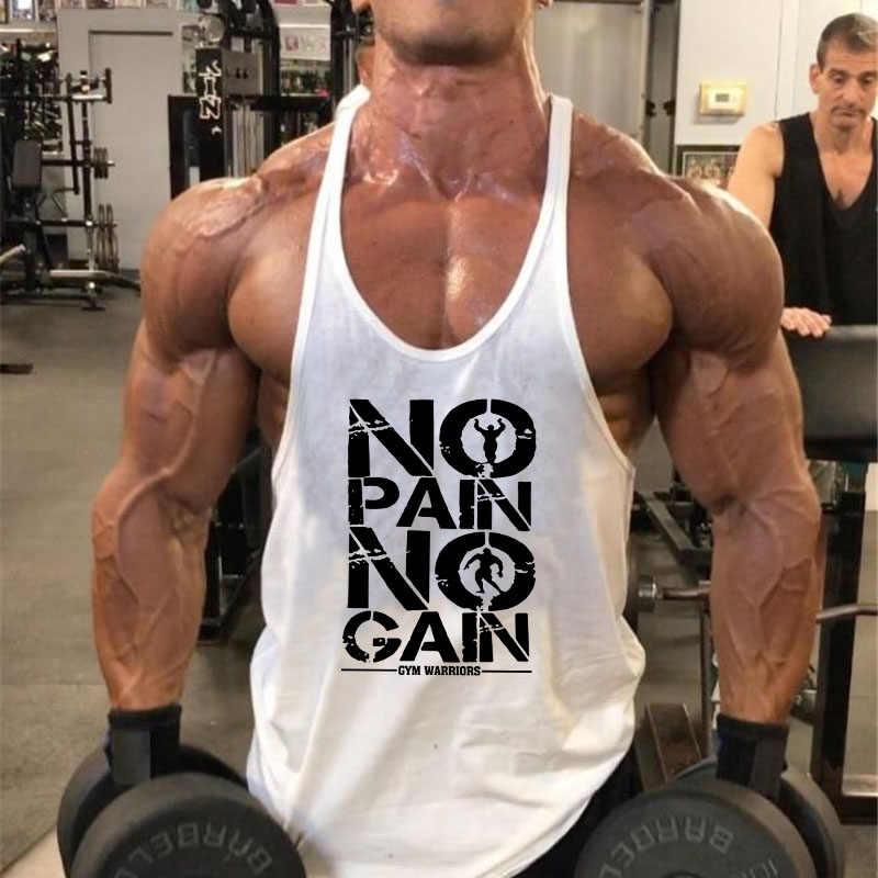 Marca de culturismo Stringer Tank Tops para Hombre Ropa Deportiva Chaleco de Fitness hombres gimnasios ropa sin mangas camisas de músculo camisetas de manga larga