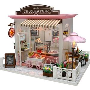 Image 1 - Cutebee casa de boneca móveis em miniatura casa de bonecas diy miniatura quarto caixa teatro brinquedos para crianças adesivos diy dollhouse k