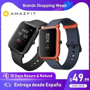 Image 1 - Huami Amazfit Bip Astuto di GPS Della Vigilanza Smartwatch Android iOS Monitor di Frequenza Cardiaca di 45 Giorni di Durata Della Batteria IP68 Sempre  in Mostra