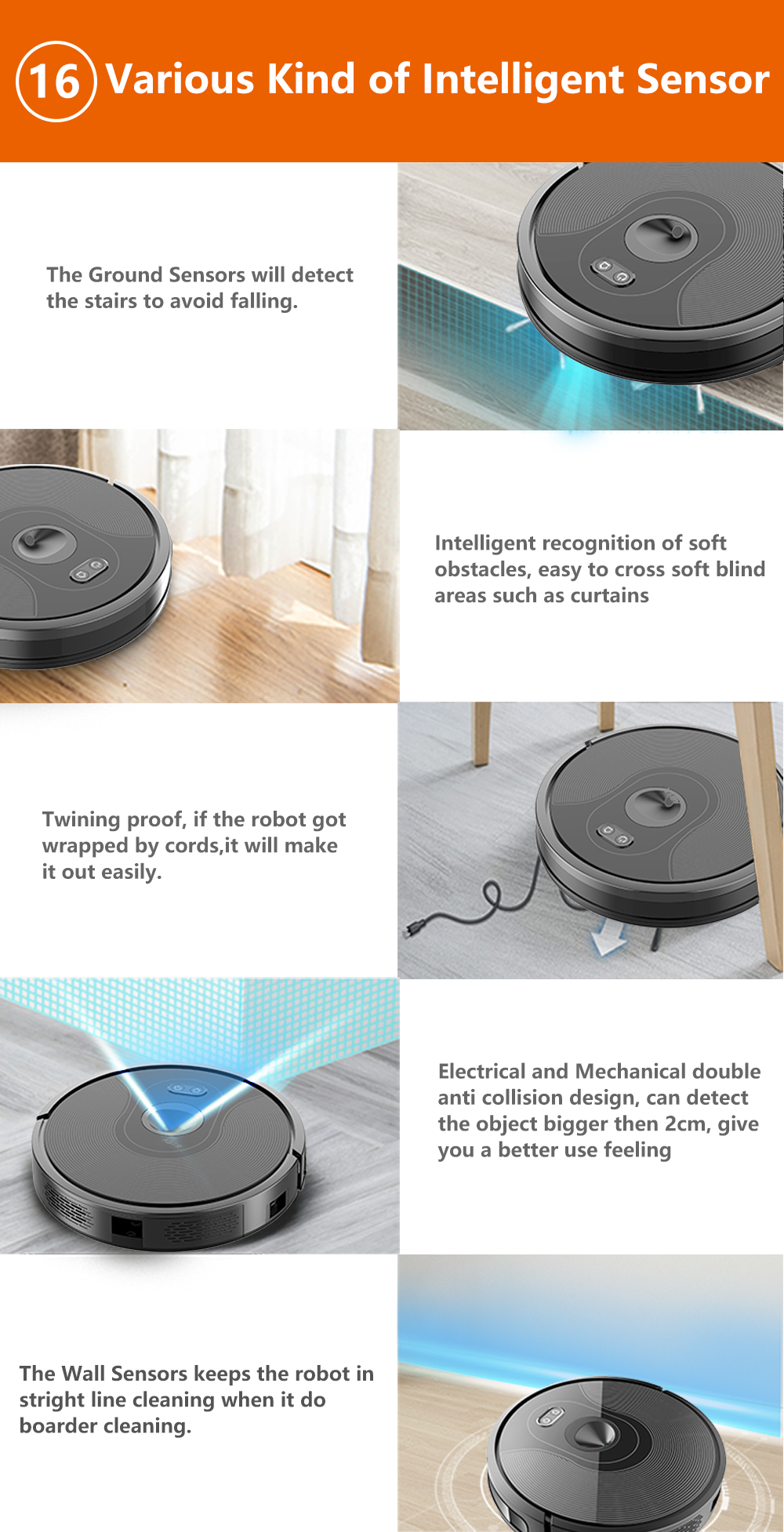 H17c39868f6e2413fa51852cae652d920S ABIR X6 Robot Vacuum Cleaner with Camera Navigation,WIFI APP controlled,Breakpoint Continue Cleaning,Draw Cleaning Area,Save Map