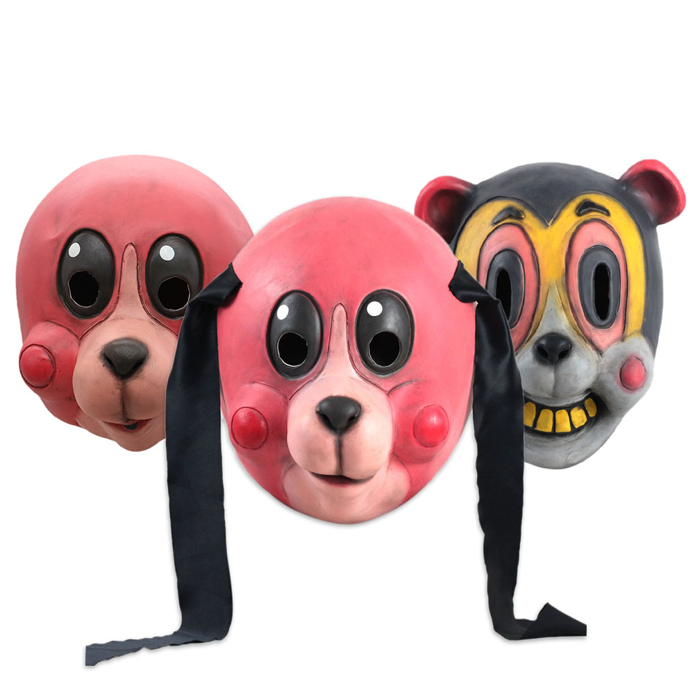 Umbrella Academy Cosplay Mask Hazel Cha Cha Latex Headwear Funny Novelty Animal Cosplay Props 2020 New TV Carnival Party PropsMovie & TV costumes   -