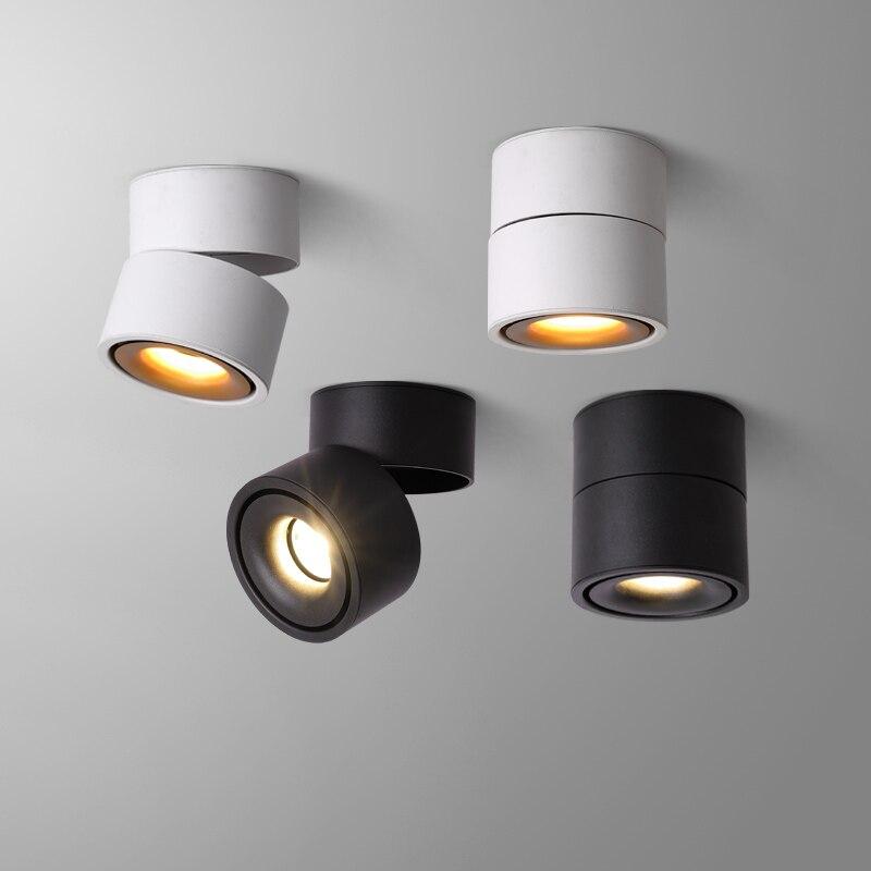 Led downlight teto spotlight, 7w, 12w, 15w, luz de teto para cozinha, sala de estar, instalação de superfície do banheiro