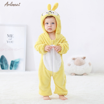 2020 jesień kombinezon zimowy dla niemowlaka dziewczynek płaszcz z kapturem kreskówka królik Boys Baby pajacyki kombinezon dla niemowląt dzieci noworodka ubrania dla dzieci tanie i dobre opinie ARLONEET Unisex Moda W wieku 0-6m 7-12m 13-24m 25-36m 3-6y 7-12y 12 + y CN (pochodzenie) 9-24 COTTON Akrylowe REGULAR Pasuje prawda na wymiar weź swój normalny rozmiar