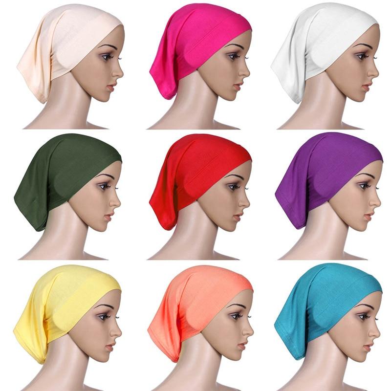 Women's Hijab Strech Elastic Islamic Maxi Crinkle Hijab Soft Islam Muslim