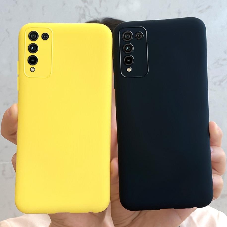 Чехол для Huawei Honor 10X Lite, силиконовый мягкий однотонный чехол для телефона Honor 10X Lite, бампер для Honor10X lite 10 X Lite, чехлы