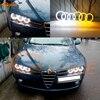 Dla Alfa Romeo 159 2005-2011 doskonały Ultra jasny podwójny kolor Switchback led angel eyes efekt aureoli światło do jazdy dziennej włączony kierunkowskaz