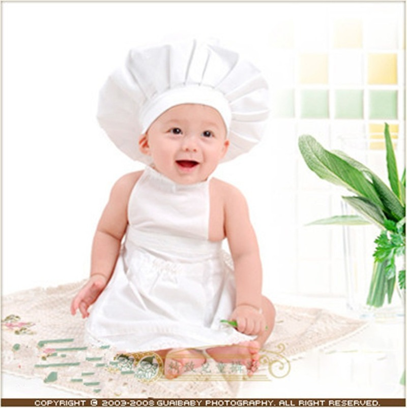 Newborn Photography Prop Baby Chef Apron Hat Newborn Hat Apron Baby Cook Costume Photography Prop