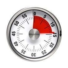 Minuterie de cuisson mécanique rappel aimant forme ronde 60 Minutes compte à rebours alarme pour cuisine domestique approvisionnement facile