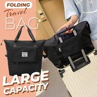 Große Kapazität Klapp Reisetasche Wasserdichte Nylon Große Hand Taschen Tragbare Neue Duffle Tasche Gepäck Lagerung Tasche Werkzeuge Für Reise