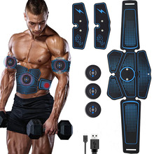 Rechargeable EMS Abdominal Muscle Stimulator Trainer ABS Electrostimulation Fitness Massager Leg Arm Abdomen Muscular Exercise abdominal abs arm leg abdomen pad muscle trainer smart stimulator body building fitness massager slimming ems stimulation