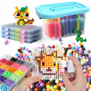 11000pcs36 ColorsRefill Beads Puzzle Crystal DIY Water Spray Beads Ball Games 3D Handmade Magic Toys for Children Christmas Gift