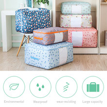 M/L/XL/XXL Oxford Cloth Waterproof Portable Quilt Storage Bag Folding Closet Organizer For Pillow Quilt Clothes Blanket Box Case(China)