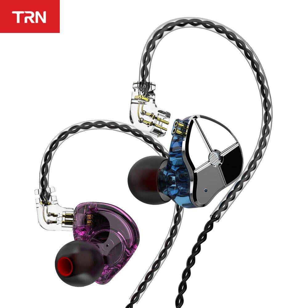 TRN ST1 1DD 1BA Hybrid In Ear Earphone HIFI DJ Monitor Running Sport Earphone Earplug Headset With QDC Cable TRN V90 BA5