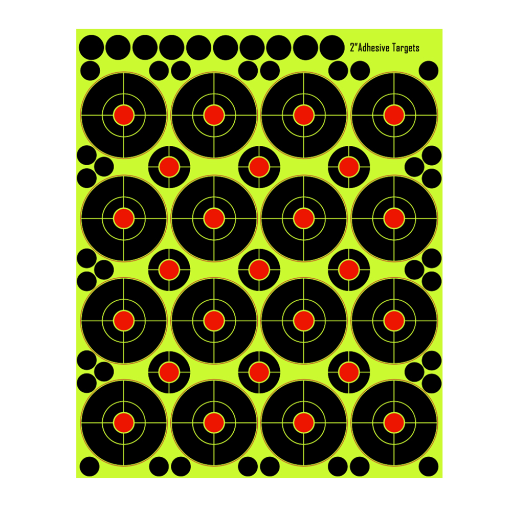Target Papers High Strength Adhesive Targets Visible Splatter Holes Self Adhesive Sticker Hunting Darts Practice Accessories