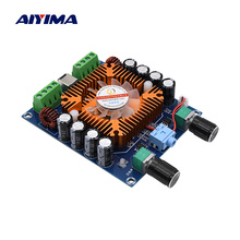 Aiyima tda7850 amplificador de potência digital placa de áudio 50 w * 4 amplificadores de som classe ab 4 canais carro amplificador estéreo amp diy