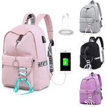 2019 Newest Fashion Back To School Bag Boys Girls Backpack with USB Charging Port Travel BAG diomo school bag stripes canvas backpack schoolbags stylish students school backpack for girls travel bags usb charging port