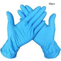 50/100 stücke Haushalt Reinigung Waschen Einweg Mechaniker Handschuhe Schwarz Nitril Labor Nail art Anti Statische Handschuhe-in Schutzhandschuhe aus Sicherheit und Schutz bei