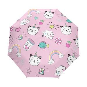 Cartoon Automatic Umbrellas Un