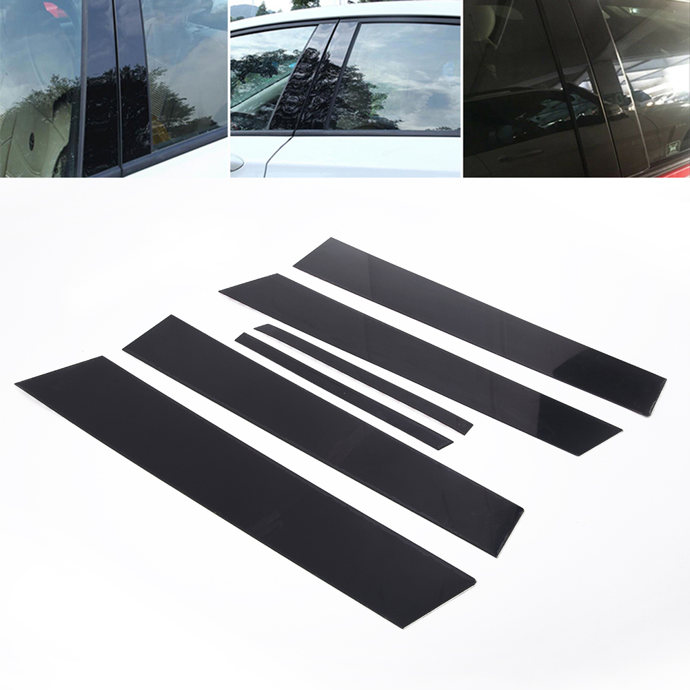 Fit for Honda Civic 2006-11 Mirror effect Window Pillar Posts Cover Trim 6pc qwe