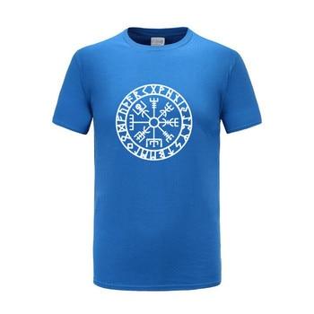 Men Vikings Odin Warrior Legend T Shirt Pure Cotton Tops Tee Novelty Men Short Sleeve Crewneck Tees Summer Mens T-Shirts 2