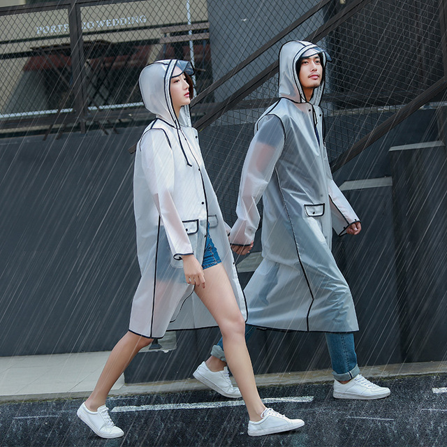 Scooter Raincoat Jacket Motorcycle Waterproof Hooded Poncho Long Raincoat Women Travel Transparent Protection Pluie Rain Gear 2