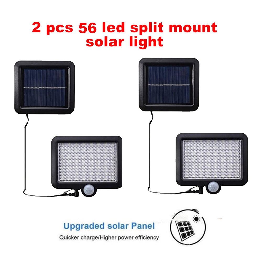 2/4pcs 100/56/30 LEDs light PIR Motion Sensor Outdoor Waterproof Solar Powered lamp Waterproof Wall for Garden Yard Path Decorat