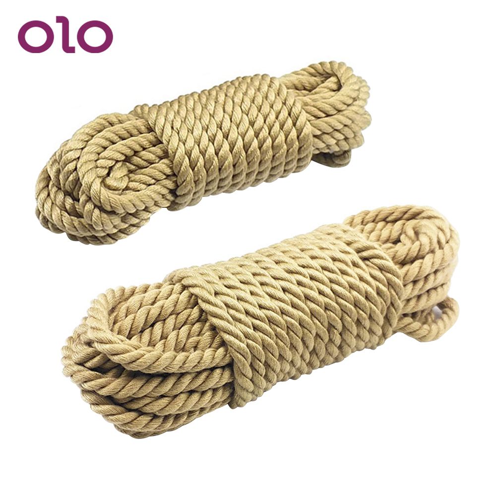 OLO Restraint 5m 10m Fetish Slave SM Bondage Rope Roleplay Sex Toys For Couples Soft Cotton Rope Flirting Erotic Products
