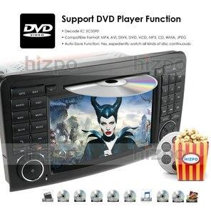 Image 3 - Android 10.0 7 Inch 2 Din Auto Dvd Radio Voor Mercedes Benz Gl Ml Klasse W164 ML350 Usb Stalen Wiel controle Rds Dvr Gratis Camera