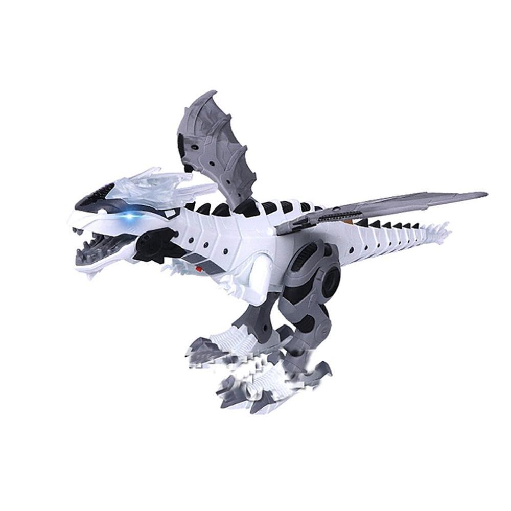 2019 NEW Spray Mechanical Dinosaurs With Wing Cartoon Electronic Walk Animal Model Dinosaurio Juguete Robot Pterosaurs Kids Toys