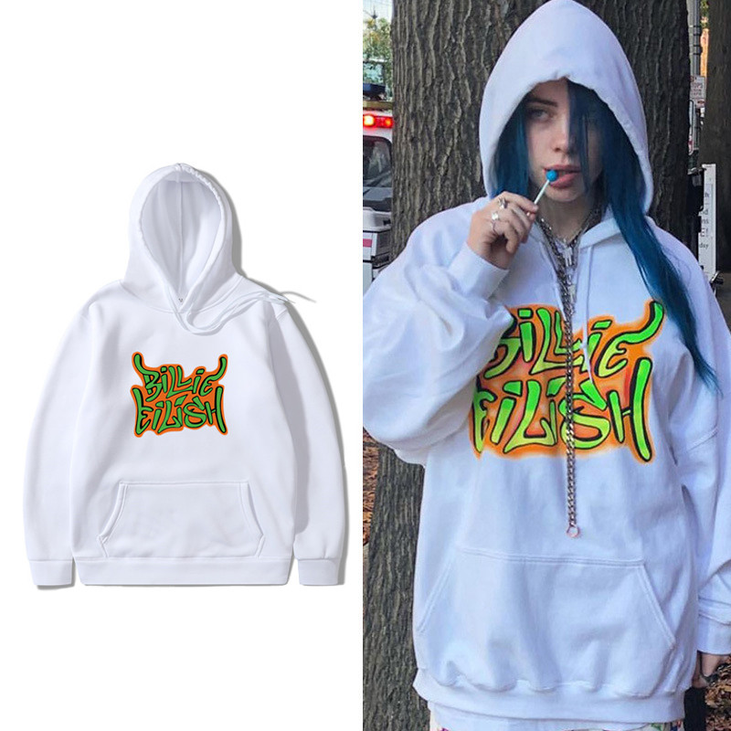 Billie Eilish Fashion Oversized Hoodies Sweatshirts Casual Men Women Hooded Pullover Sport Hip Hop Billie Eilish Hoodie Clothes
