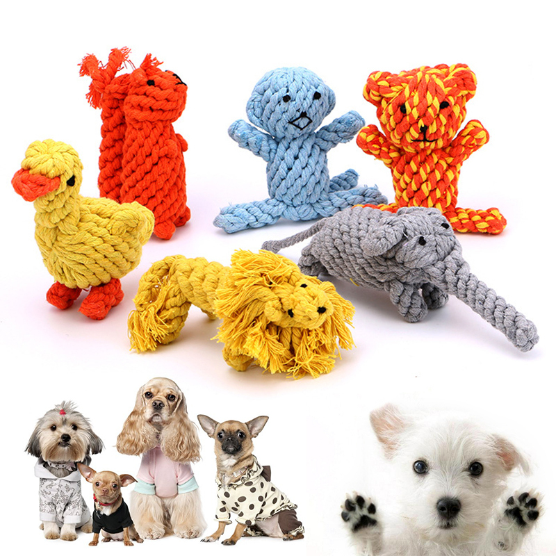 2019 Animal Shape Durable Cotton Dog Chew Toys Dog Toy Puppy Toys Petshop Popular Toys Pet Toys Dog Toys for Small Large Dogs