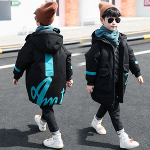 Image 4 - Winter Jacket Boys Overalls Childrens Warm Thick Jacket Coat Teenager 4 16yrs Parkas For Children Clothes Kids Outerwear&Coats