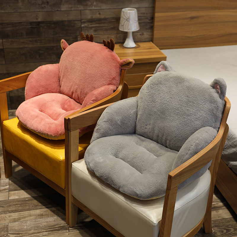 Мягкая плюшевая подушка для дивана, мультяшный рисунок, мягкое сиденье для дома и офиса, удобное постельное белье