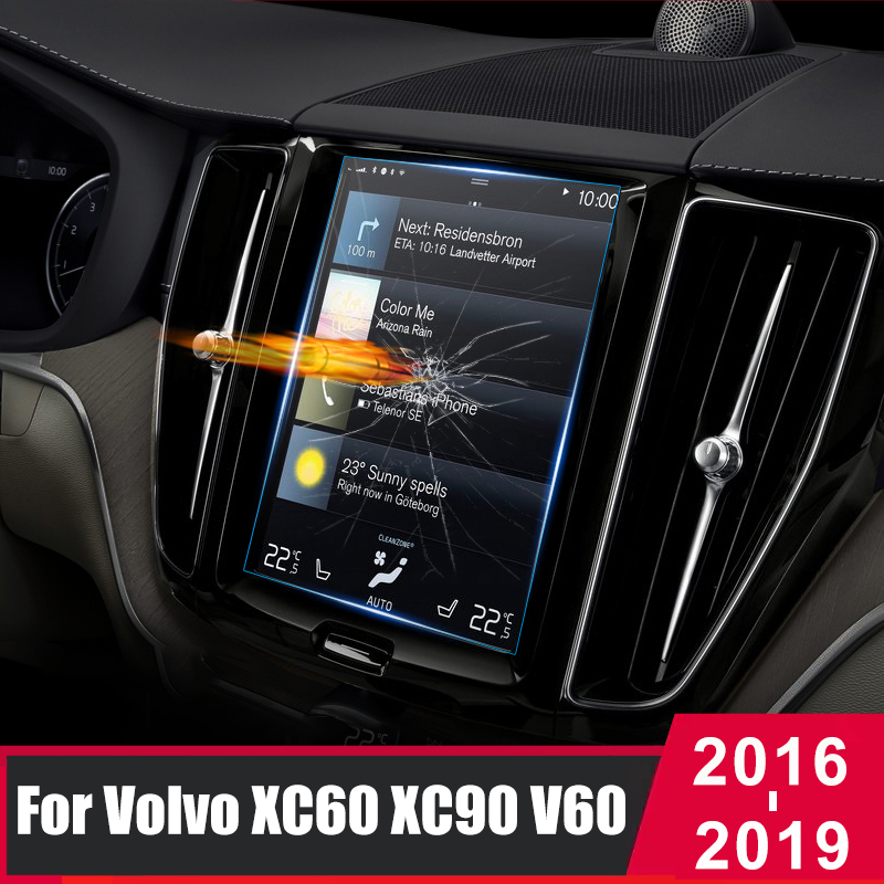 For <font><b>Volvo</b></font> <font><b>XC60</b></font> XC90 XC40 S90 V90 V60 2016 2017 2018 <font><b>2019</b></font> Glass Car Navigation Screen Protector Touch Display Screen film Sticker image