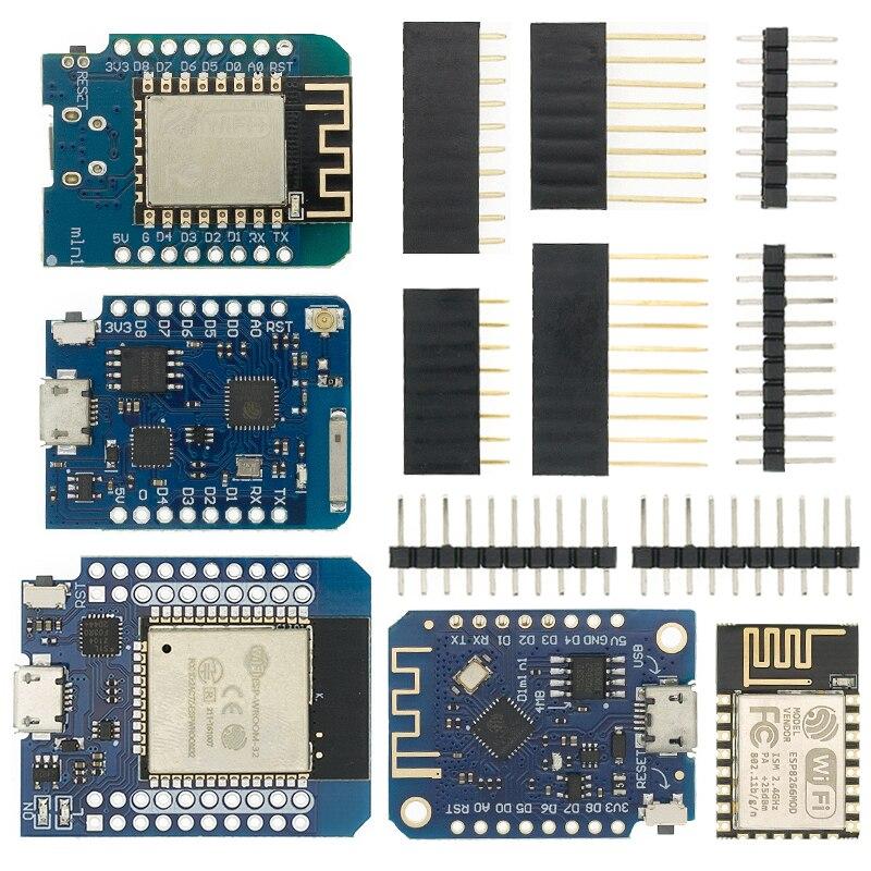Intelligent Électronique D1 mini-Mini NodeMcu 4 M octets Lua WIFI Internet de Choses développement conseil basé ESP8266 par WeMos