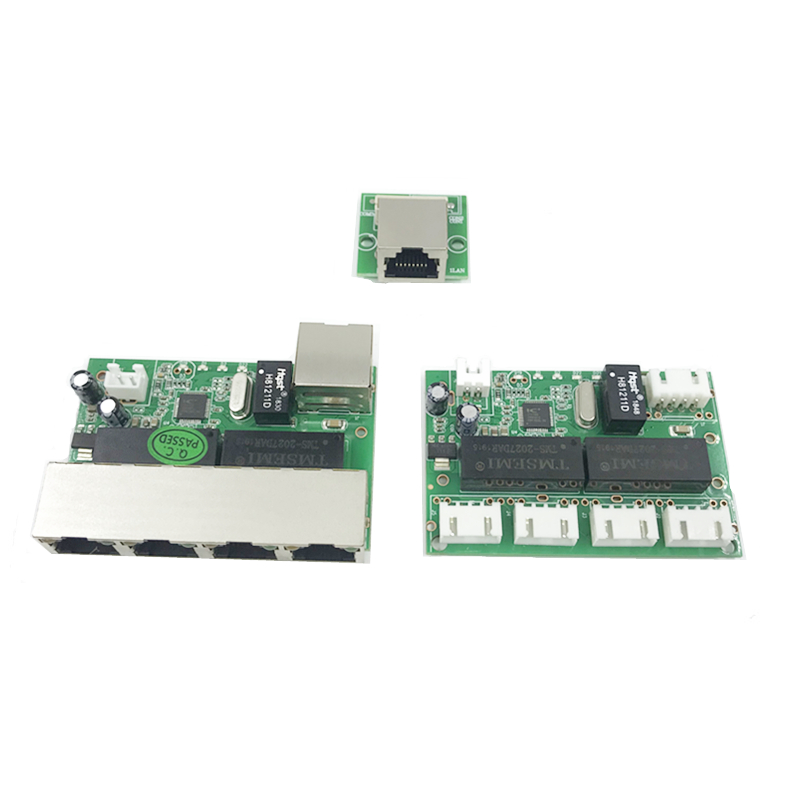 Mini Module Design Ethernet Switch Circuit Board For Ethernet Switch Module 10/100mbps 5 Port PCBA Board OEM Motherboard 4 PIN