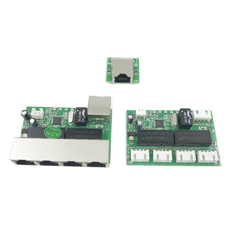 Mini Module Design Ethernet Switch Circuit Board For Ethernet Switch Module 10/100mbps 5 Port PCBA Board OEM Motherboard 4 PIN