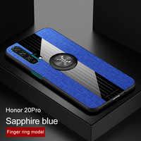 Armatura Per Il Caso di Huawei Honor 20 pro10 Anello Magnetico Auto Del Supporto Del Silicone Opaco Della Copertura Posteriore Per Honor Nota 10 9X pro In Pelle Coque