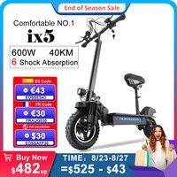 IScooter-patinete eléctrico plegable para adultos, Scooter de 10 pulgadas, 15A, 600W, 45 KM/H, ix5
