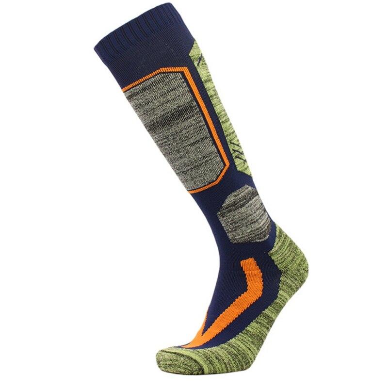 Зимние теплые лыжные носки, длинные толстые хлопковые спортивные носки для сноуборда, лыжного туризма, удобные термоноски для мужчин и женщ...